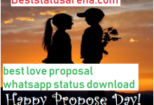 Photo of best love proposal whatsapp status download- Propose Day Special 2020
